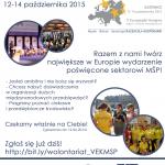 Wolontariat V EKMŚP - plakat